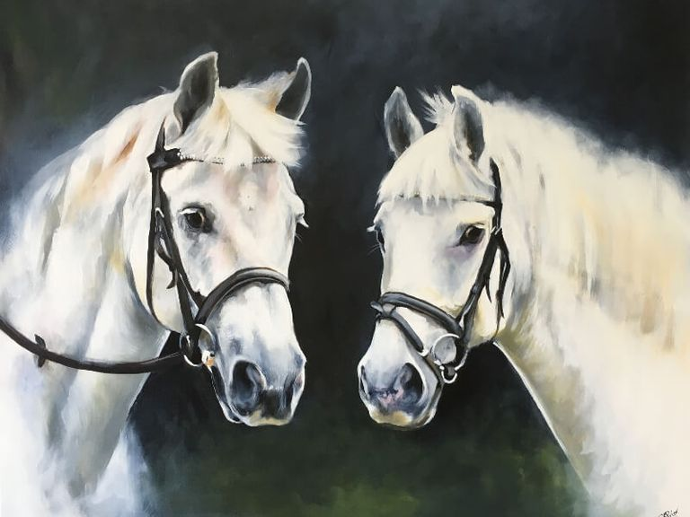 Equine portrait painting by kay prior